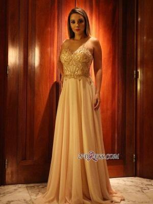 Long chiffon prom Dress UK, evening Dress UK with beads_3