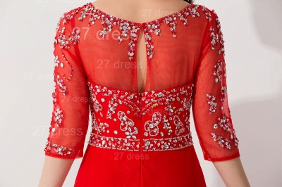 Gorgeous Red Half Sleeve Evening Dress UK Chiffon Beadings_4