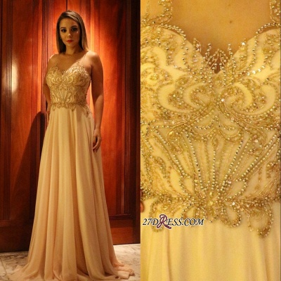 Long chiffon prom Dress UK, evening Dress UK with beads_2
