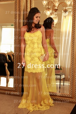 Applique Long Lace Prom Dress UKes UK with Vestidos De Fiesta Yellow Gowns for Evenings Sweetheart Mermaid Prom_4