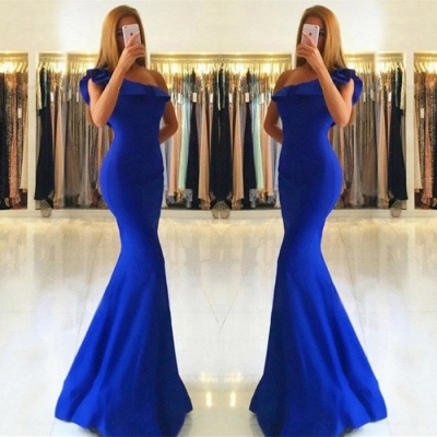 Royal Blue Mermaid Evening Dress UK   Long Prom Dress UK_3