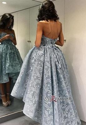 Chic Ball-Gown High-Low Strapless Sleeveless Modern Evening Dress UK BA4481_2
