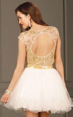Sexy Crystals Two Piece Homecoming Dress UK Mini Cap Sleeve_3