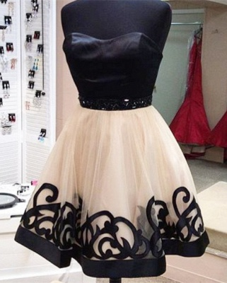 Sexy Sweetheart Short Tulle Homecoming Dress UK With Beadings_2