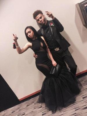 Elegant Black Sleeveless Prom Dress UKes UK Mermaid Tulle Party Gowns_2