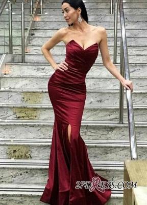 Floor-Length Sweetheart Split Modern Mermaid Evening Dress UK_1