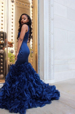V-Neck Prom Dress UK | Ruffles Mermaid Evening Dress UK BA8435_5