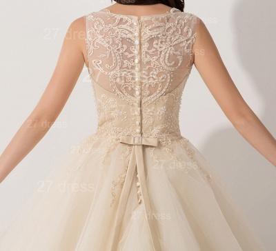 Newest Illusion Princess Tulle Evening Dress UK Lace Ruffles_4