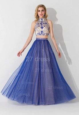 Modern Halter Two Piece Evening Dress UK Floor-length_1