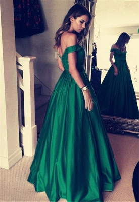 Sexy Off-the-Shoulder Evening Dress UK | Green Long Prom Dress UK_3