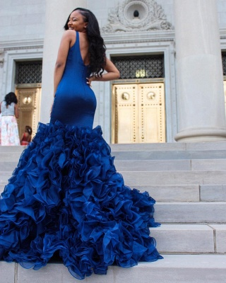 V-Neck Prom Dress UK | Ruffles Mermaid Evening Dress UK BA8435_4