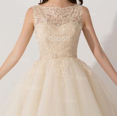 Newest Illusion Princess Tulle Evening Dress UK Lace Ruffles_2