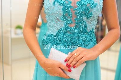 De Long Blue Lace Prom Dress UK Lindo Vstidos Womens Evening Party Gowns Applique Beading Chiffon_4