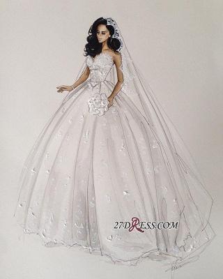 Stunning Sweetheart Ball Gown Lace Wedding Dress BA7462_1