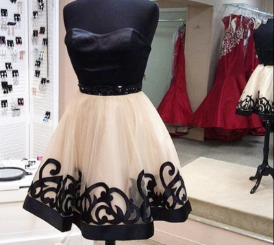 Sexy Sweetheart Short Tulle Homecoming Dress UK With Beadings_3