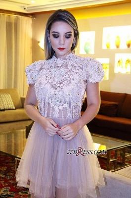 Lace shaort prom Dress UK, lace homecoming Dress UK_5