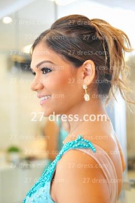 De Long Blue Lace Prom Dress UK Lindo Vstidos Womens Evening Party Gowns Applique Beading Chiffon_5