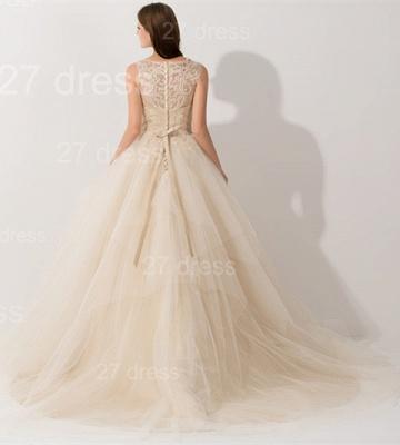 Newest Illusion Princess Tulle Evening Dress UK Lace Ruffles_3