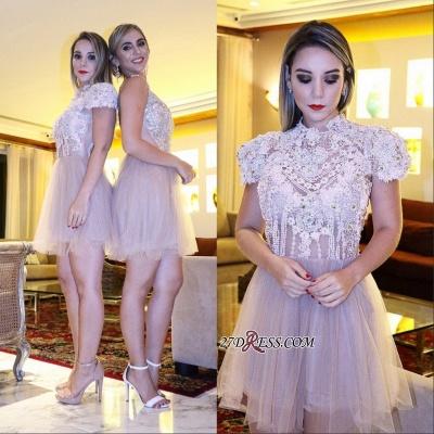 Lace shaort prom Dress UK, lace homecoming Dress UK_4