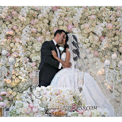 Stunning Sweetheart Ball Gown Lace Wedding Dress BA7462_3