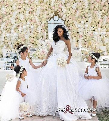 Stunning Sweetheart Ball Gown Lace Wedding Dress BA7462_2