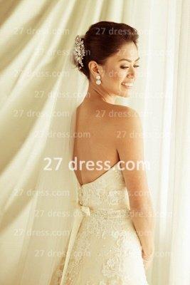 Train Lace Wedding Dresses UK Long Sleeves Elegant Ivory A-line Sheer Cheap Crew Neck Applique Chapel Bridal Gowns_3