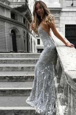 Gorgeous V-neck Long Prom Dress UK Mermaid Sequins Party Dress UK BA7489_4
