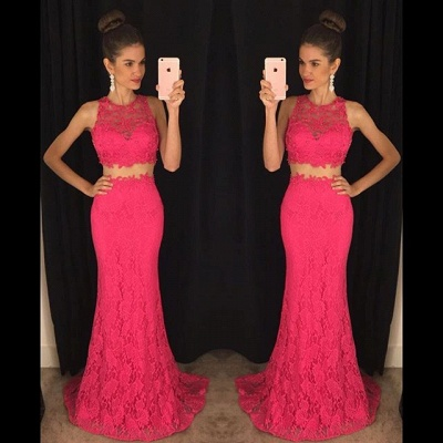 Delicate Mermaid Lace Prom Dress UK Two Piece AP0_3