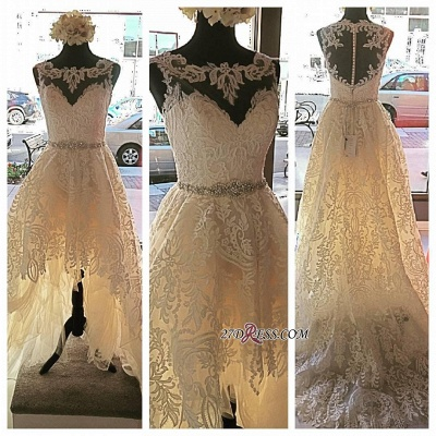 Lace Button Designer Elegant Tulle Zipper Sleeveless Wedding Dress_2