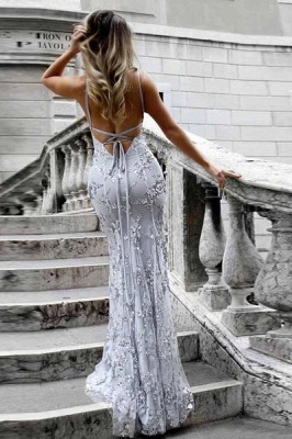Gorgeous V-neck Long Prom Dress UK Mermaid Sequins Party Dress UK BA7489_5