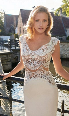 Gorgeous Designer Lace Wedding Dress Sexy Mermaid Sweep Train_1