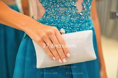 New Arrival Vestidos De Gala Evening Gowns High-neck Blue Lace Applique Prom Dress UKes UK on Sale_5
