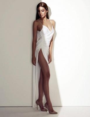 Elegant Side Split V-neck Prom Dress UK Spaghetti Strap Sleeveless pd456_4