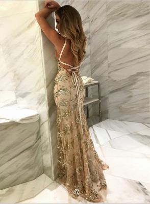 Gorgeous V-neck Long Prom Dress UK Mermaid Sequins Party Dress UK BA7489_2