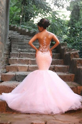 Fabulous Sweetheart Sexy Mermaid Wedding Dresses UK Beadss Tulle Lace Appliques_3
