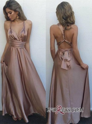 V-Neck Long Luxury Floor-Length Sleeveless Prom Dress UK BA4071_2