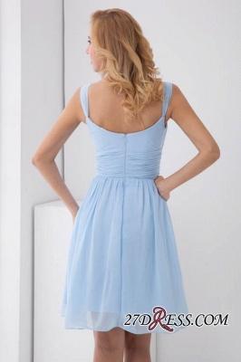 Short A-Line Knee-Length Sexy Straps Chiffon Bridesmaid Dress UKes UK_3