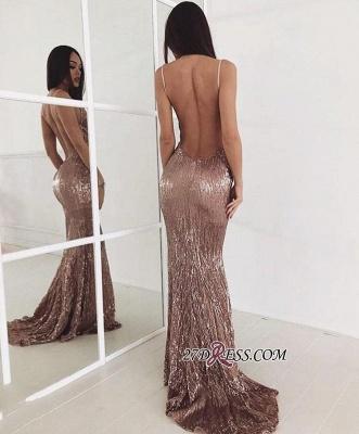 Sequin Sweep-train New-arrival Elegant Beading Backless Prom Dress UK_1