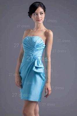 Modern Strapless Bodycon Short Cocktail Dress UK Sleeveless Zipper_1