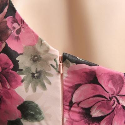 Sexy One SHoulder Print Flowers Floor Length Chiffon Prom Dress UK_6