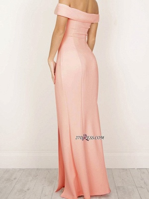 Sexy Sheath Off-The-Shoulder Side-Slit Long Prom Dress UKes UK_2