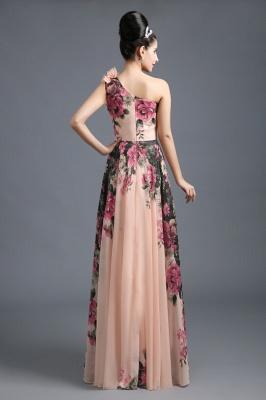 Sexy One SHoulder Print Flowers Floor Length Chiffon Prom Dress UK_3