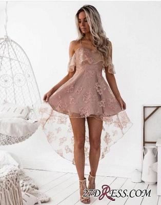 Short Hight-low Lace A-line Cute Homecoming Dress UK BA7000_3