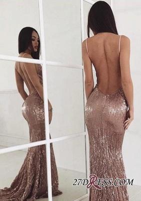 Sequin Sweep-train New-arrival Elegant Beading Backless Prom Dress UK_2