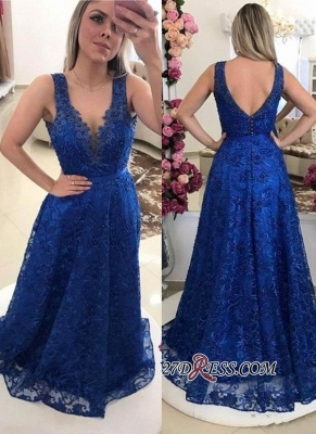 Sexy Royal-Blue Prom Dress UKes UK | Lace Evening Gowns On Sale_2
