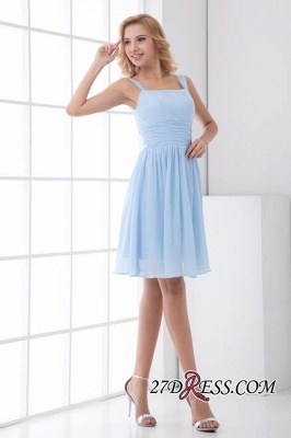 Short A-Line Knee-Length Sexy Straps Chiffon Bridesmaid Dress UKes UK_6