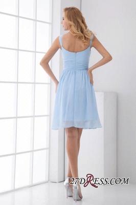 Short A-Line Knee-Length Sexy Straps Chiffon Bridesmaid Dress UKes UK_5