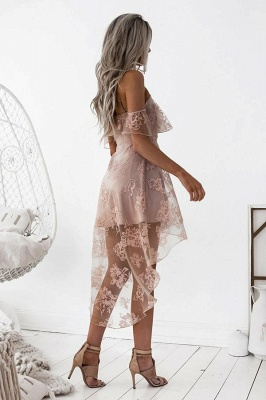 Short Hight-low Lace A-line Cute Homecoming Dress UK BA7000_5