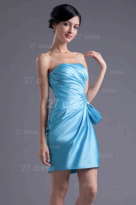 Modern Strapless Bodycon Short Cocktail Dress UK Sleeveless Zipper_5