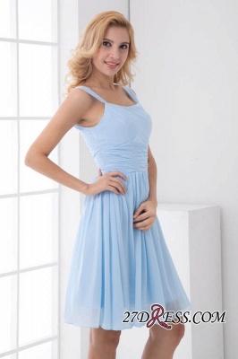 Short A-Line Knee-Length Sexy Straps Chiffon Bridesmaid Dress UKes UK_4